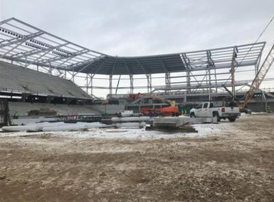 Allianz Field commence à prendre forme I-94 à St. Paul