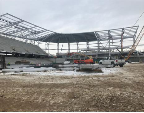 Allianz Field Starting To Take Shape Off I-94 In St. Paul